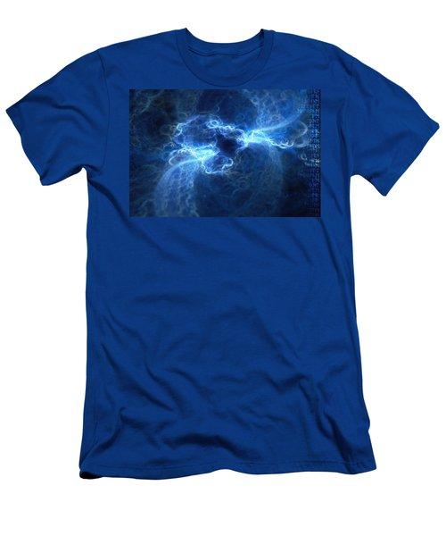 Men's T-Shirt (Athletic Fit) featuring the digital art Nexus by Michal Dunaj