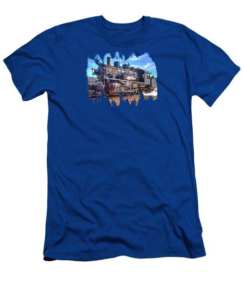 No. 25 Steam Locomotive Men's T-Shirt (Slim Fit) by Thom Zehrfeld