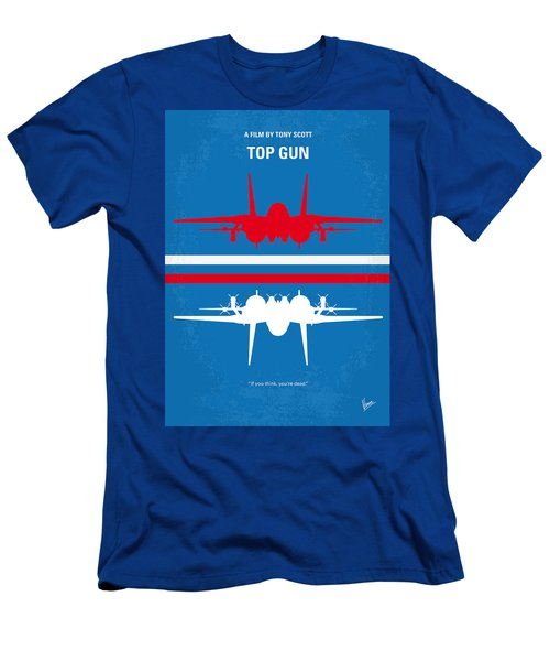 No128 My Top Gun Minimal Movie Poster Men's T-Shirt (Athletic Fit)