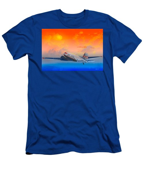 North Central Dc-3 At Sunrise Men's T-Shirt (Slim Fit) by J Griff Griffin