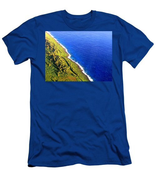 Men's T-Shirt (Athletic Fit) featuring the photograph North Coast Of Tinian At Sunrise by MB Dallocchio