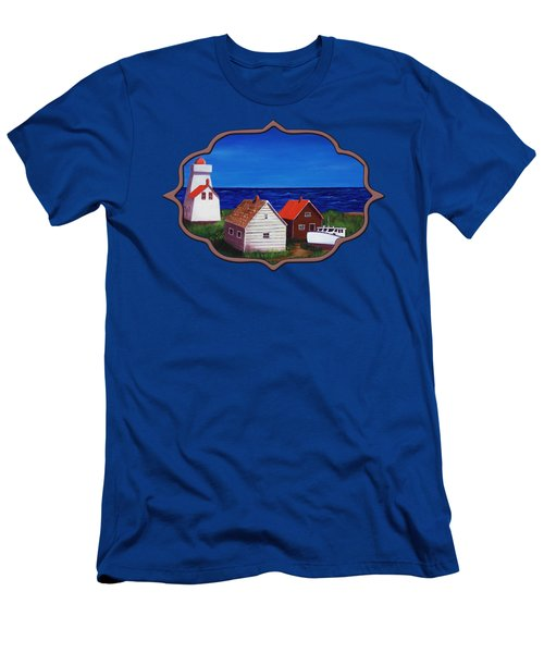 North Rustico - Prince Edwards Island Men's T-Shirt (Slim Fit)
