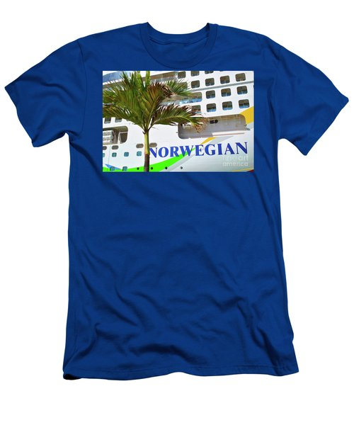 Men's T-Shirt (Athletic Fit) featuring the photograph Norwegian Cruise Line by Jost Houk