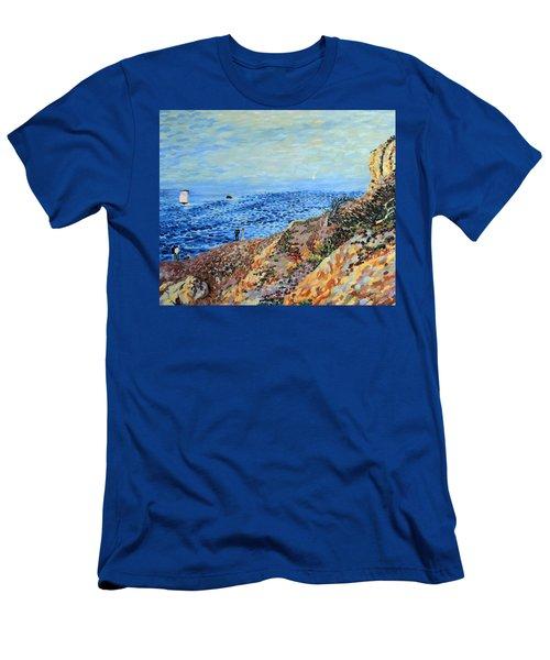 November Day At Point Lobos San Francisco Men's T-Shirt (Athletic Fit)