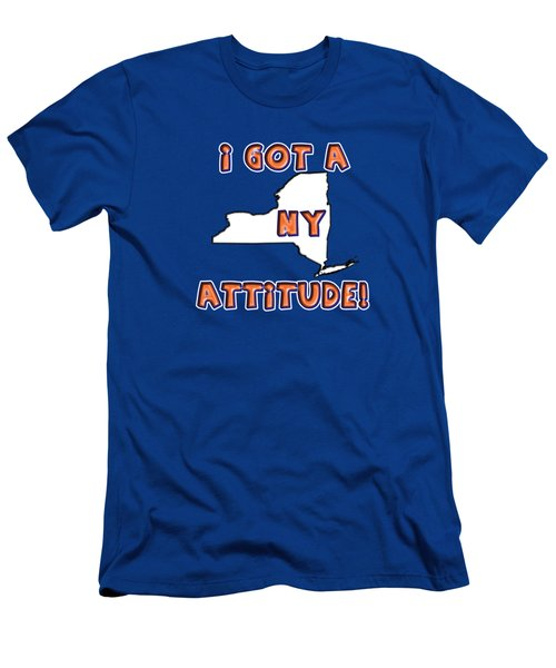Ny Attitude-mets Colors Men's T-Shirt (Athletic Fit)
