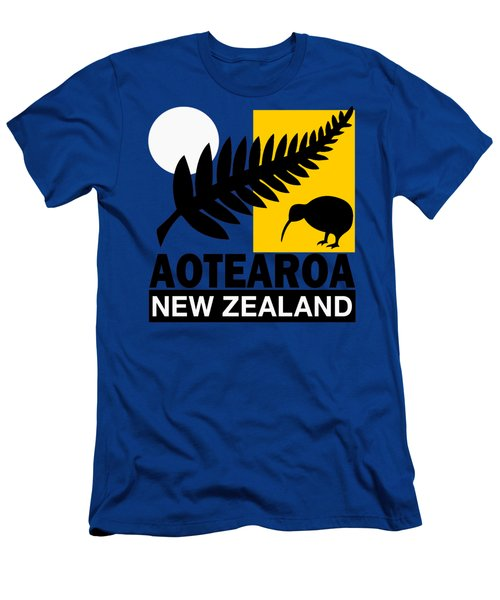 Nz-new Zealand Men's T-Shirt (Athletic Fit)
