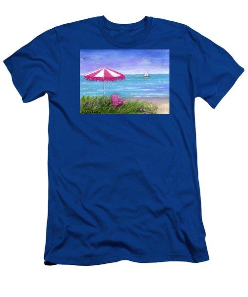 Men's T-Shirt (Slim Fit) featuring the painting Ocean Breeze by Sandra Estes