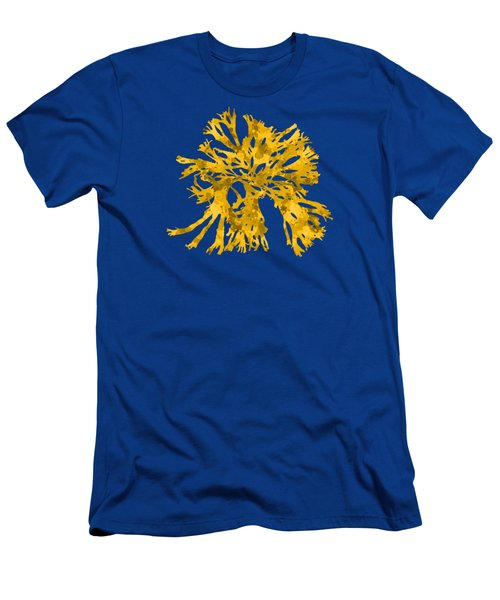 Men's T-Shirt (Slim Fit) featuring the mixed media Ocean Seaweed Plant Art Rhodomenia Sobolifera Square by Christina Rollo