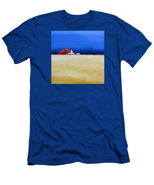 Men's T-Shirt (Slim Fit) featuring the painting October Fields by Jo Appleby