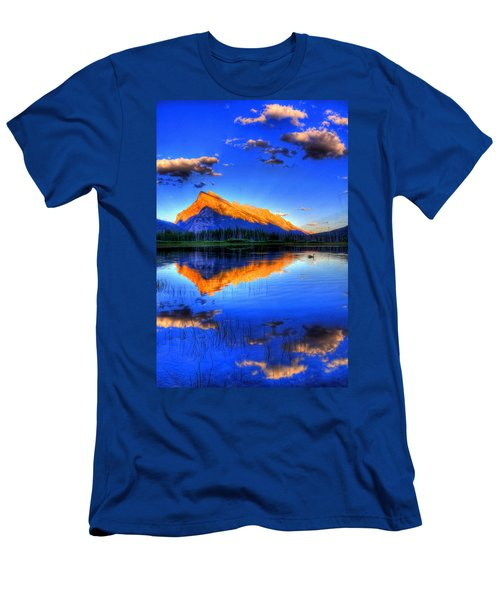 Of Geese And Gods Men's T-Shirt (Slim Fit) by Scott Mahon