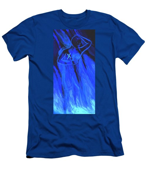 Men's T-Shirt (Slim Fit) featuring the painting Of Memories And Dreams by Lisa Brandel