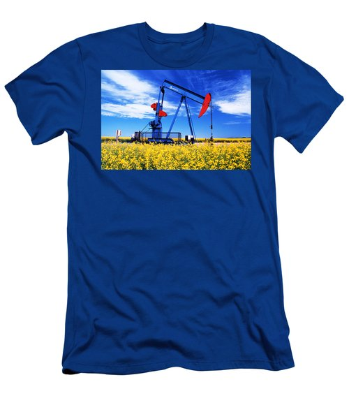 Oil Pumpjack And Canola Field, Arcola Men's T-Shirt (Athletic Fit)