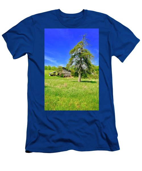 Old Barn, Smith Mountain Lake Men's T-Shirt (Athletic Fit)