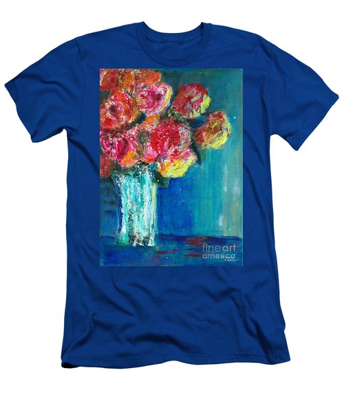 Old Roses Men's T-Shirt (Slim Fit) by Veronica Rickard
