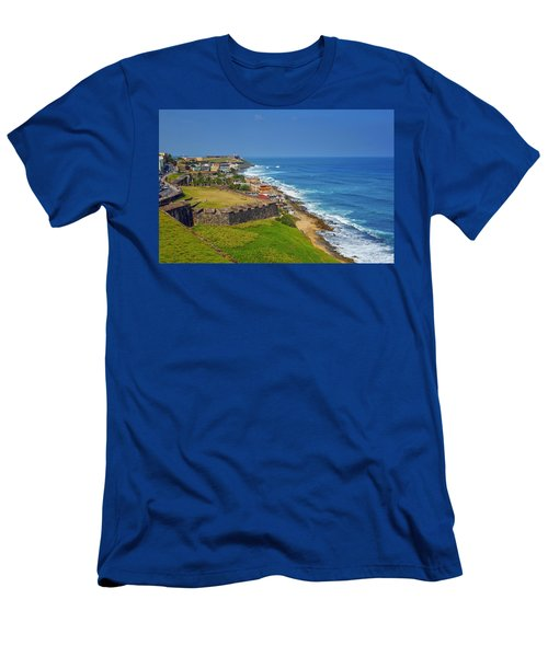 Old San Juan Coastline Men's T-Shirt (Athletic Fit)