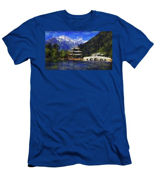 Old Town Of Lijiang Men's T-Shirt (Athletic Fit)