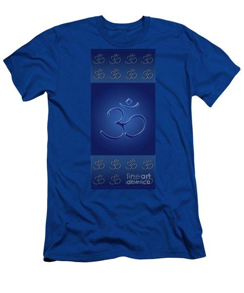 Om Symbol - Blue Men's T-Shirt (Athletic Fit)