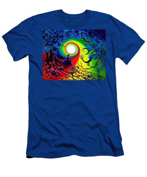 Om Tree Of Life Meditation Men's T-Shirt (Slim Fit) by Laura Iverson