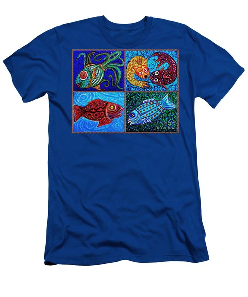 One Fish Two Fish Men's T-Shirt (Slim Fit) by Sarah Loft