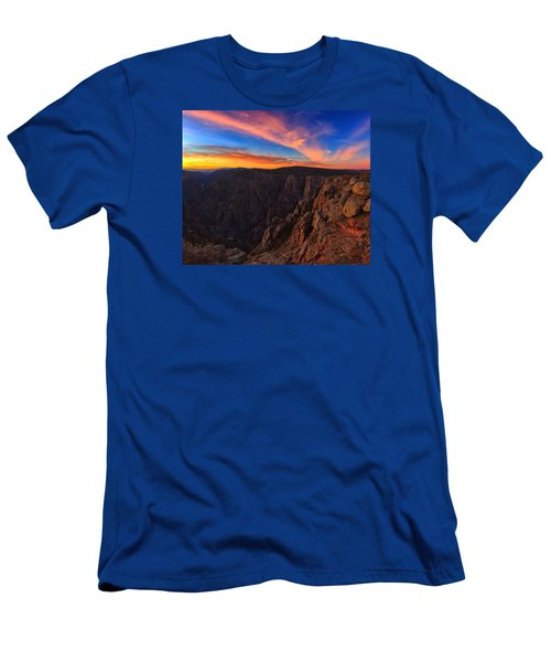 On The Edge Men's T-Shirt (Slim Fit) by Rick Furmanek