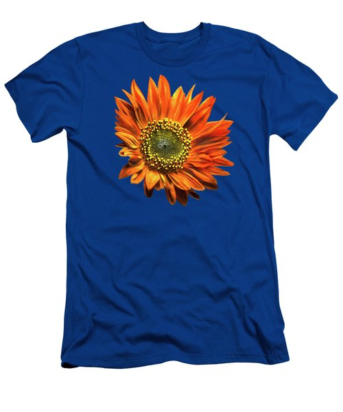 Orange Sunflower Men's T-Shirt (Slim Fit) by Christina Rollo
