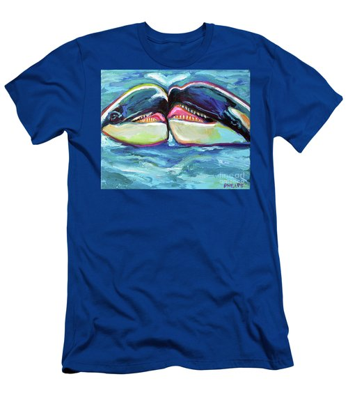 Orca Valentine Men's T-Shirt (Slim Fit) by Robert Phelps