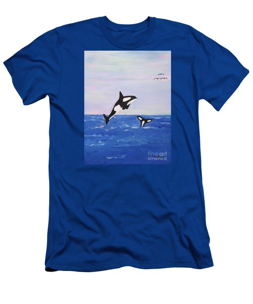 Orcas In The Morning Men's T-Shirt (Athletic Fit)