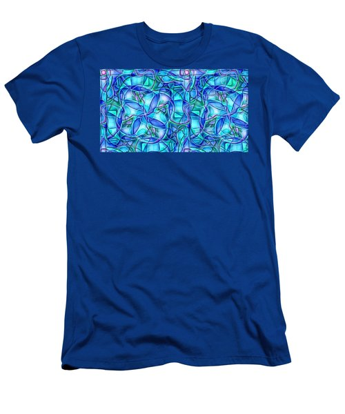 Men's T-Shirt (Slim Fit) featuring the digital art Organic In Square by Ron Bissett