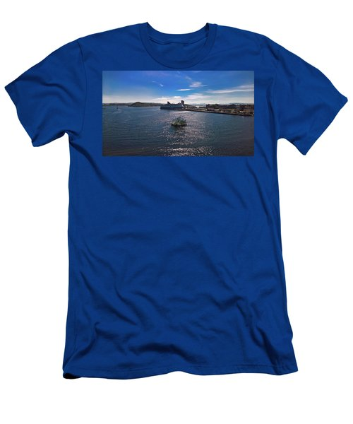 Oslo Fjord From The Roof Of The National Opera House Men's T-Shirt (Athletic Fit)