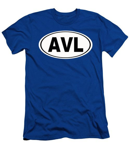Men's T-Shirt (Slim Fit) featuring the photograph Oval Avl Asheville North Carolina Home Pride by Keith Webber Jr