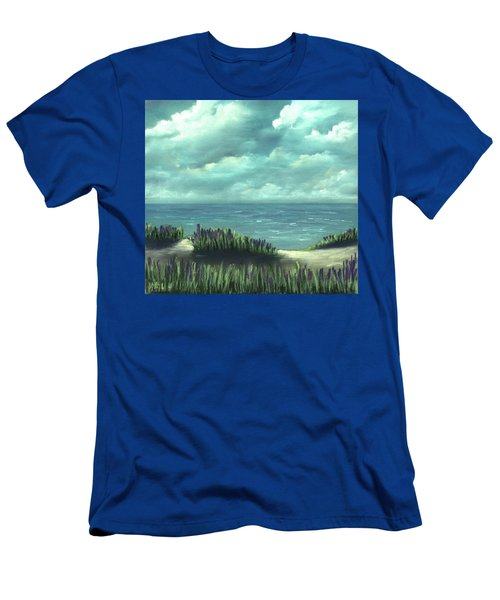 Men's T-Shirt (Athletic Fit) featuring the painting Overcast by Anastasiya Malakhova