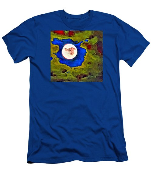 Painted Moon Men's T-Shirt (Athletic Fit)