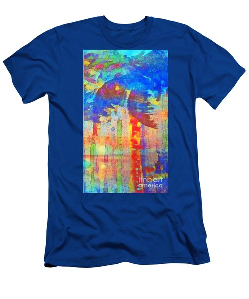 Men's T-Shirt (Slim Fit) featuring the painting Palm Party by Holly Martinson