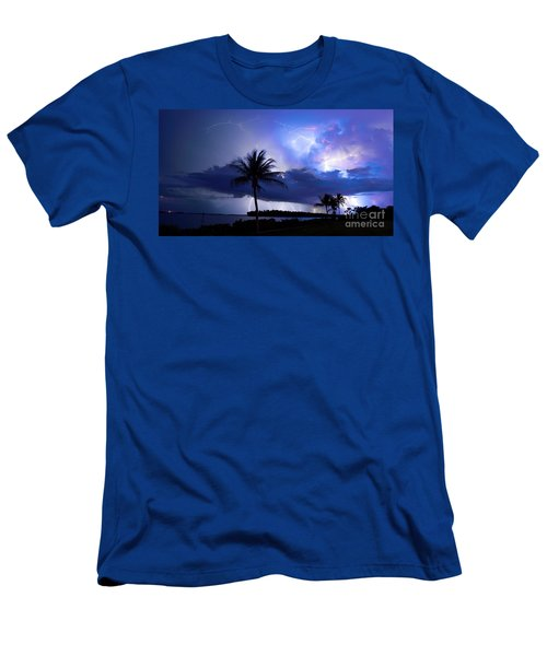 Palm Tree Nights Men's T-Shirt (Athletic Fit)