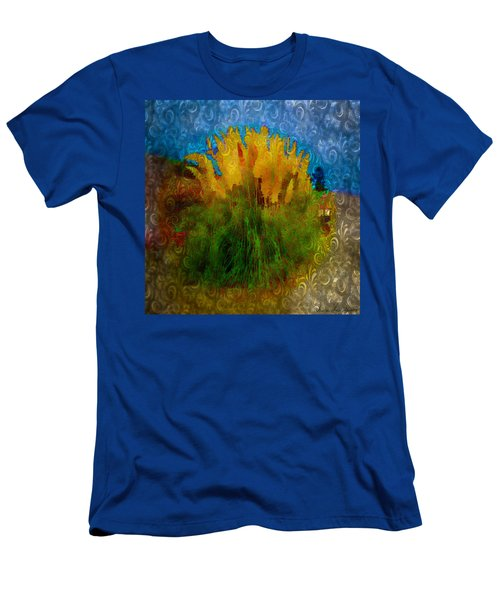 Men's T-Shirt (Slim Fit) featuring the photograph Pampas Grass by Iowan Stone-Flowers