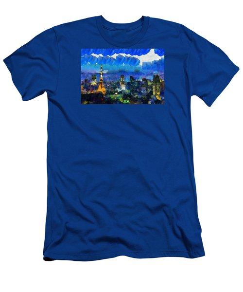 Paris Inside Tokyo Men's T-Shirt (Slim Fit) by Sir Josef - Social Critic - ART