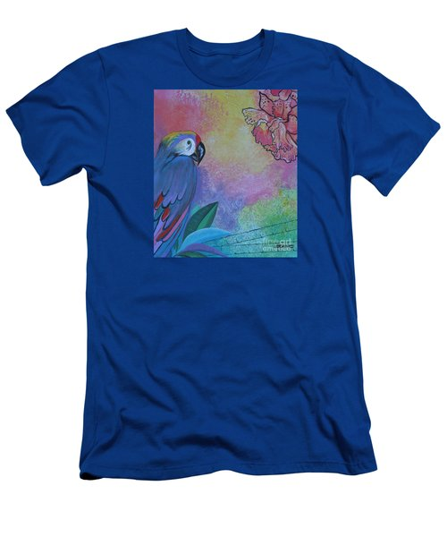 Parrot In Paradise Men's T-Shirt (Athletic Fit)