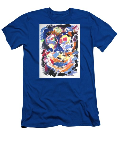 Men's T-Shirt (Slim Fit) featuring the painting Partial Blackout by Esther Newman-Cohen