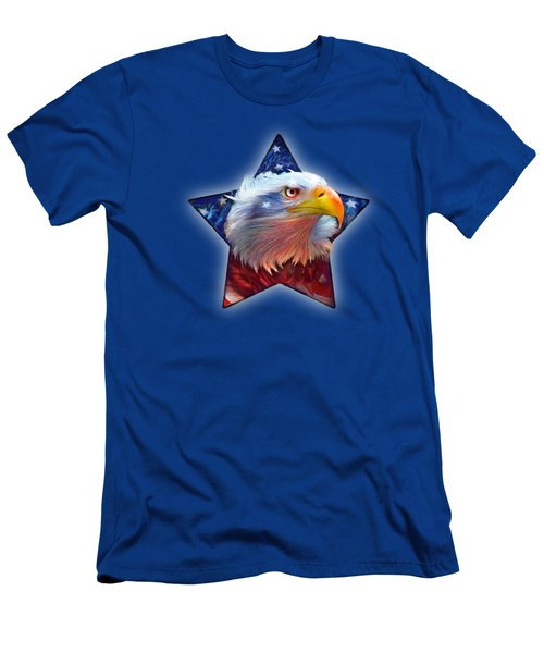 Patriotic Eagle Star Men's T-Shirt (Athletic Fit)