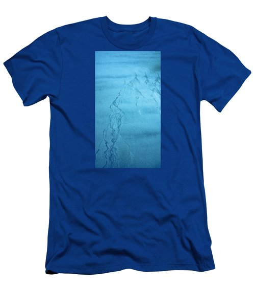 Men's T-Shirt (Slim Fit) featuring the photograph Patterns In The Sand by Michele Cornelius