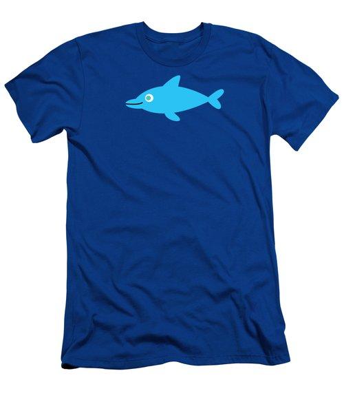 Pbs Kids Dolphin Men's T-Shirt (Slim Fit) by Pbs Kids