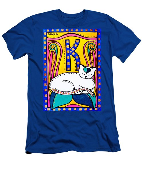 Peace And Love - Cat Art By Dora Hathazi Mendes Men's T-Shirt (Athletic Fit)