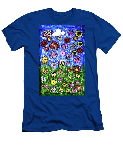 Peaceful Glowing Garden Men's T-Shirt (Athletic Fit)