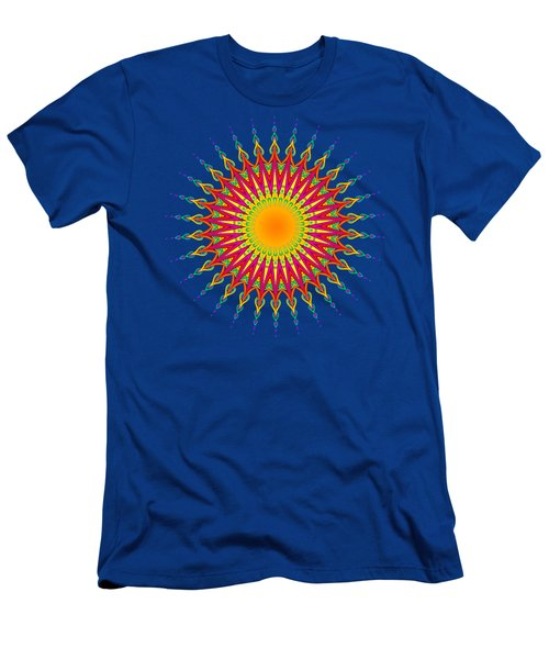 Peacock Sun Mandala Fractal Men's T-Shirt (Athletic Fit)