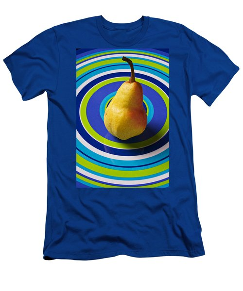 Pear On Plate With Circles Men's T-Shirt (Athletic Fit)