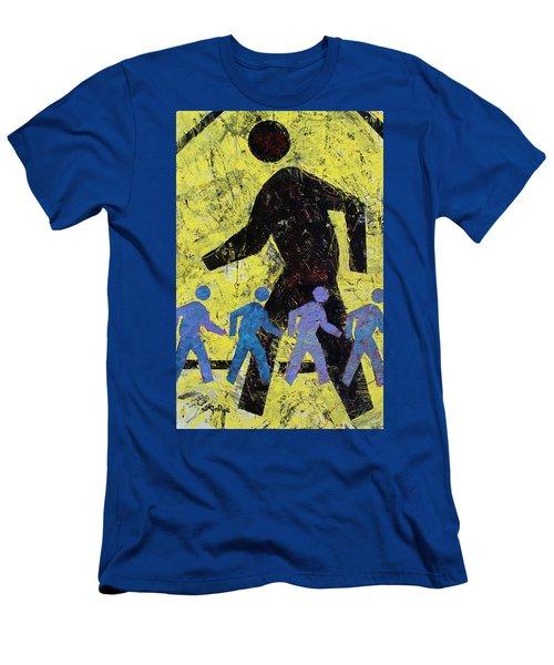 Pedestrian Crossing Men's T-Shirt (Athletic Fit)