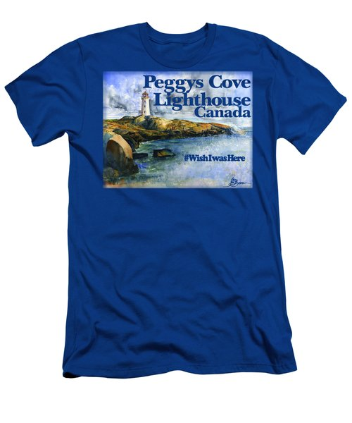 Peggys Cove Lighthouse Shirt Men's T-Shirt (Athletic Fit)