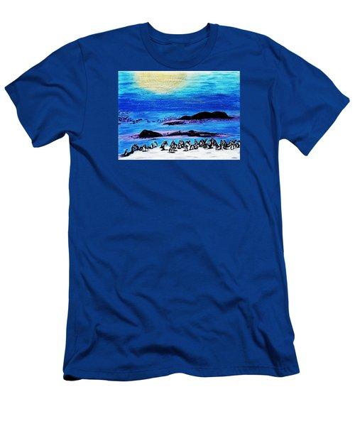 Penguins Land Men's T-Shirt (Athletic Fit)