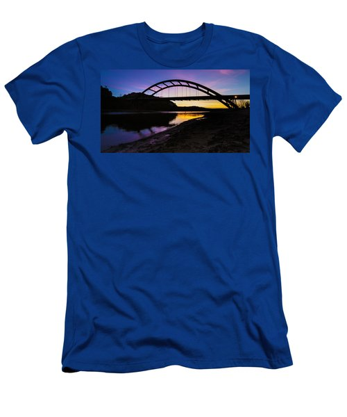 Pennybacker Bridge Men's T-Shirt (Athletic Fit)