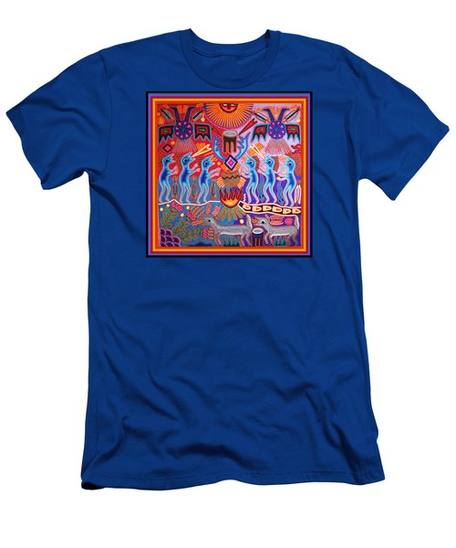 Peyote Shaman Hunting Ritual Men's T-Shirt (Slim Fit) by Vagabond Folk Art - Virginia Vivier